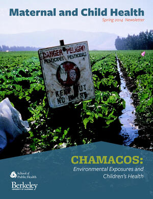 """vegetable field with sign saying """"danger pesticides"""""""