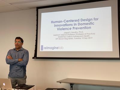 Jaspal Sandhu PhD presents a talk